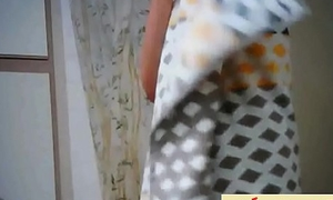 Indian College Girl Changing Cloths Look come by Bath