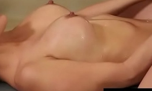Nuru Massage Ends with a Hot Shower Lady-love 4