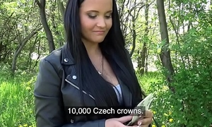 Broach Agent Sticky facial for busty hot Czech teen under railway cross over